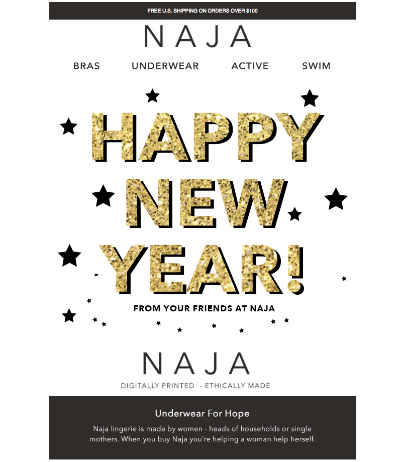 happy new year greeting email templates