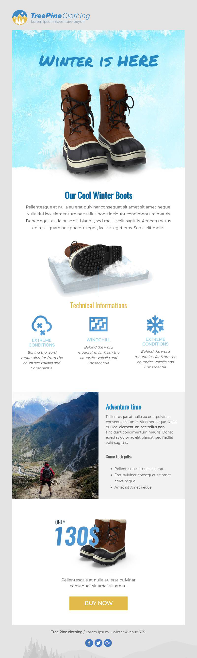 Winter Email Marketing Template from BEE