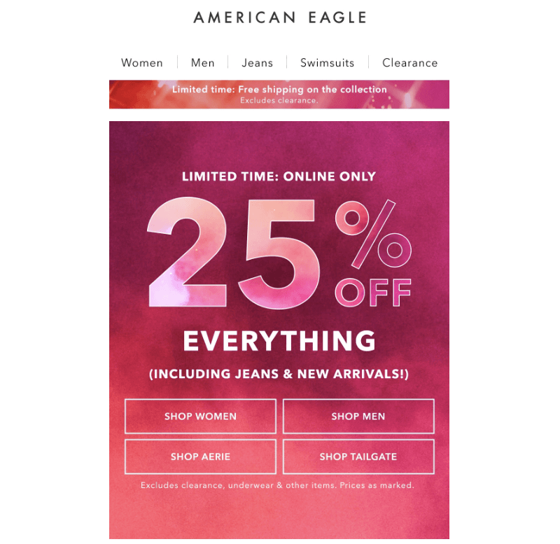 AE email design inspiration 2019