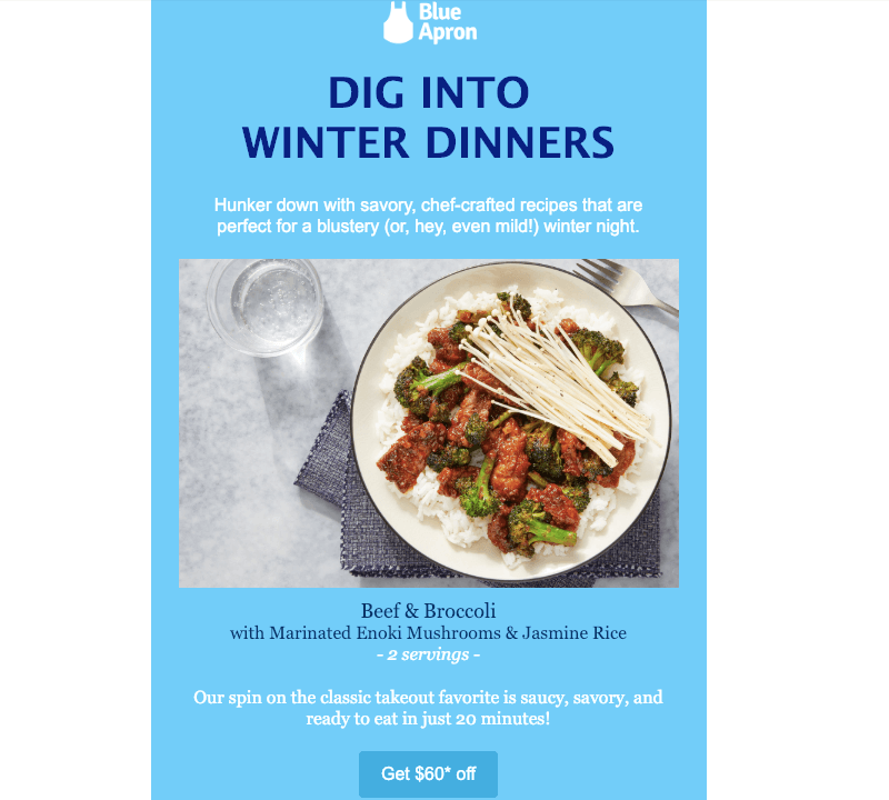 blue apron email marketing tutorial