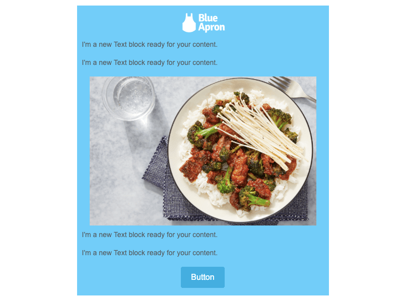 blue apron winter emails for business