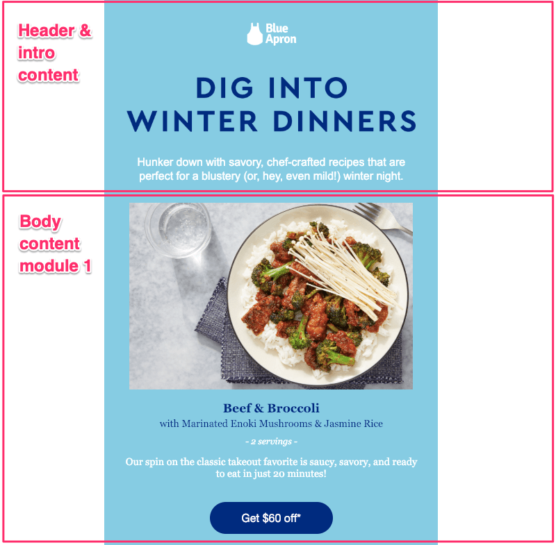 blue apron email marketing ideas for after the holidays