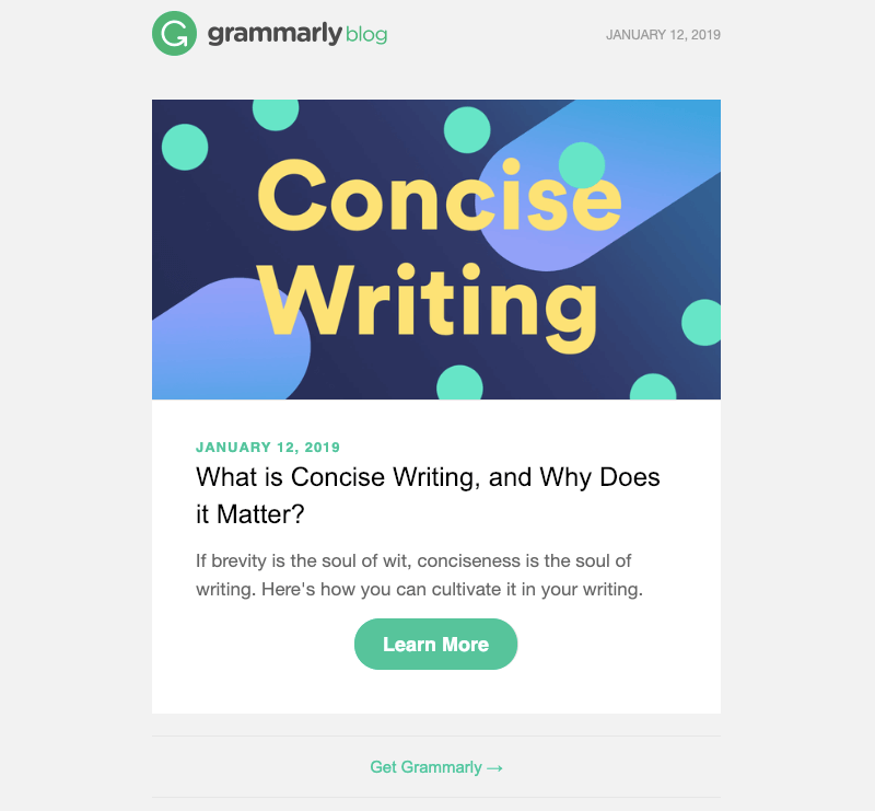 grammarly email design inspiration 2019