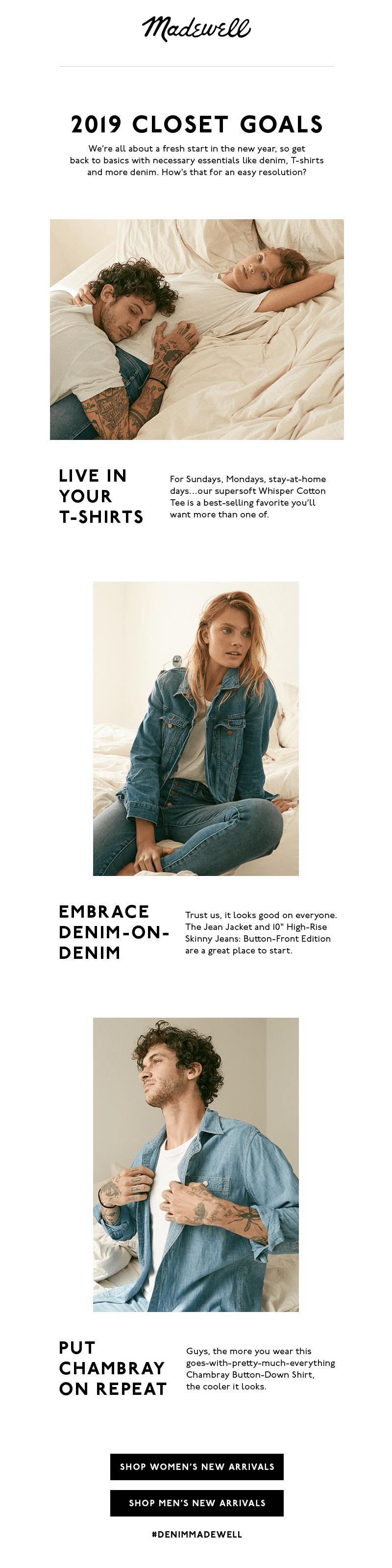 madewell email design best practices