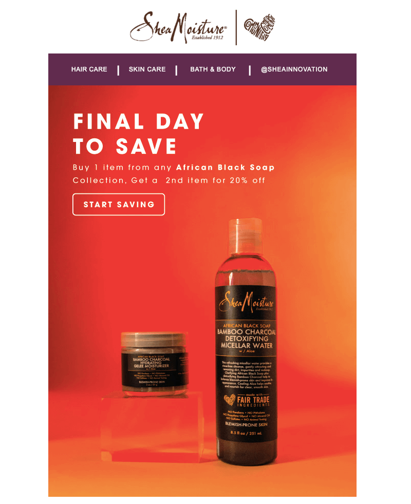 best email designs 2019 shea moisture