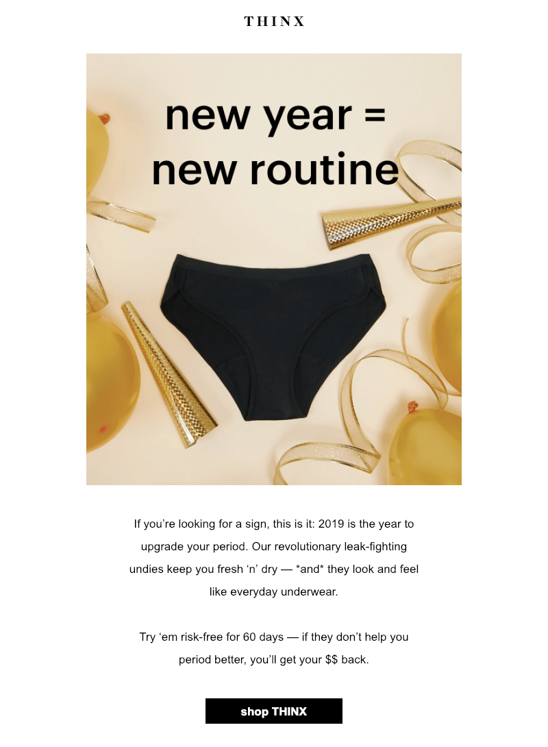 New Year's Day Email to Customers