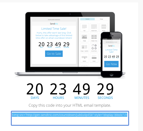 sendtric easy countdown email clock