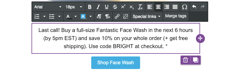 how to format text in a marketing email