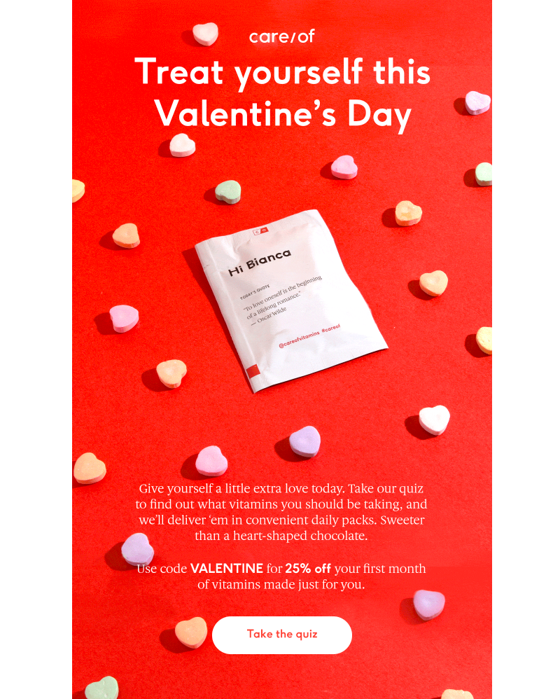 care/of valentine's email