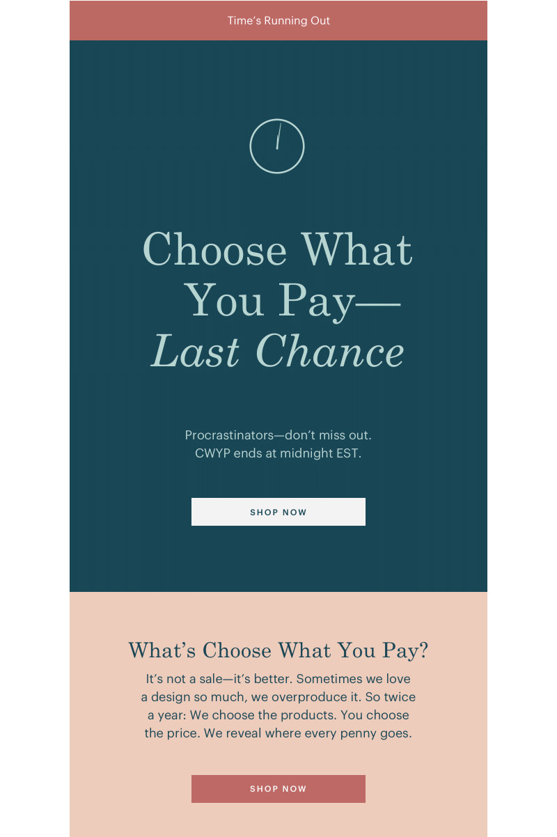 everlane final hours email