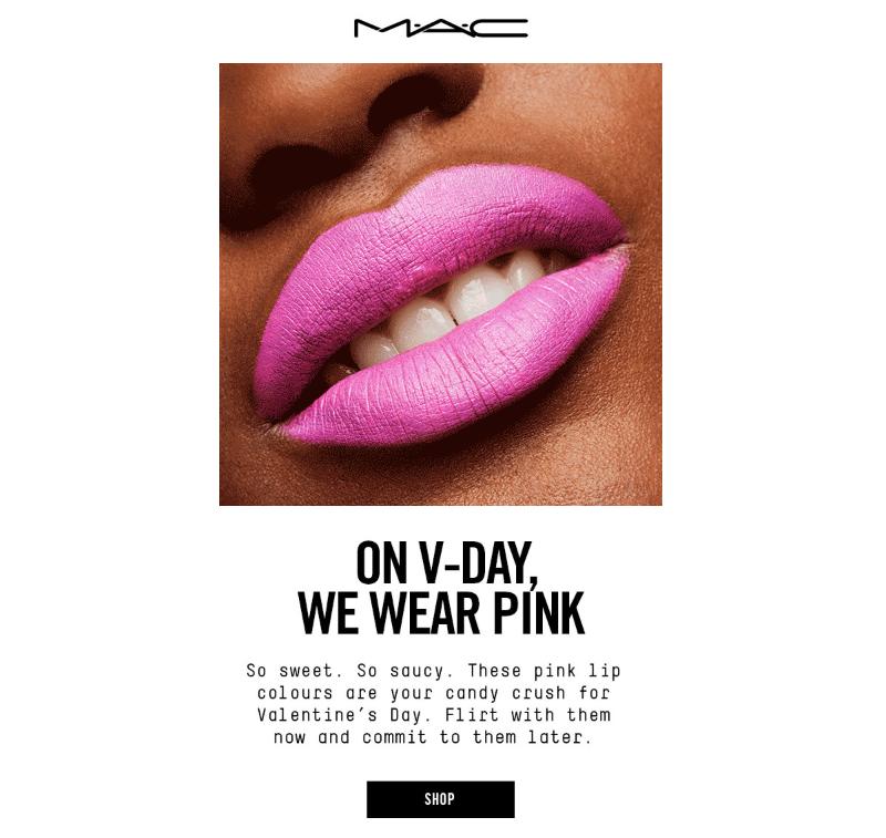 mac valentine's day email message