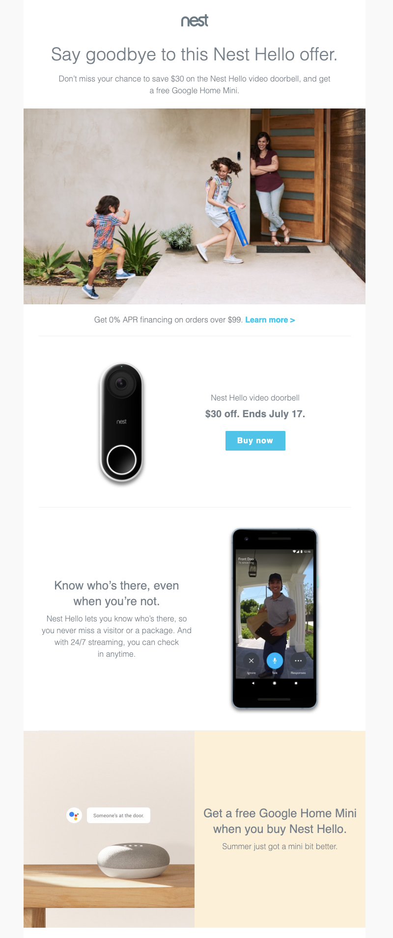 nest last chance email example