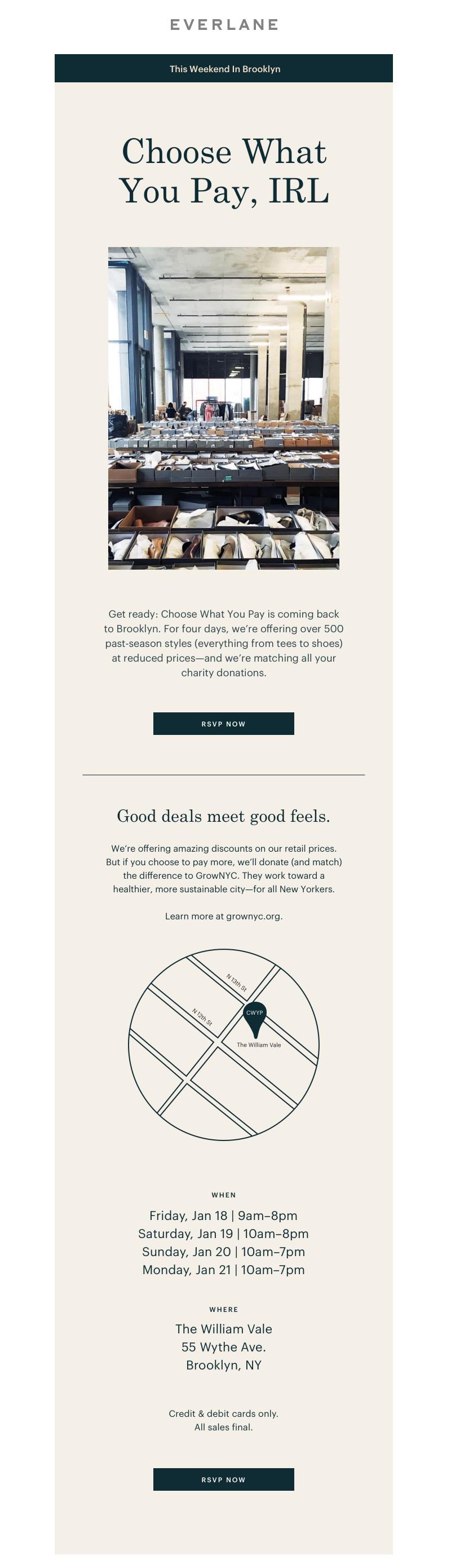 minimalist graphic design from everlane
