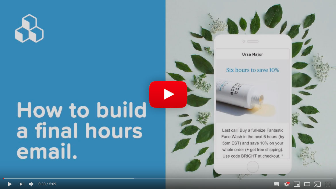 Final Hours Email Video Tutorial