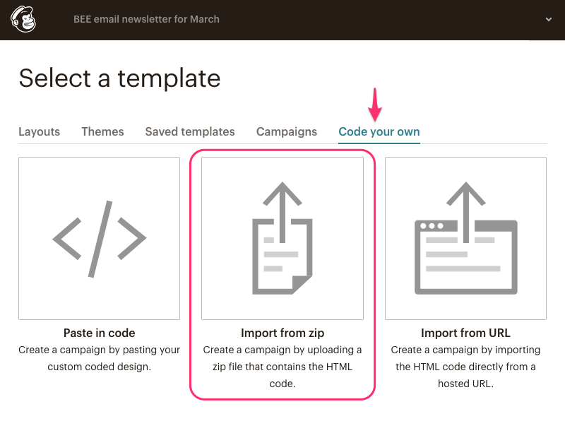 mailchimp email design instructions