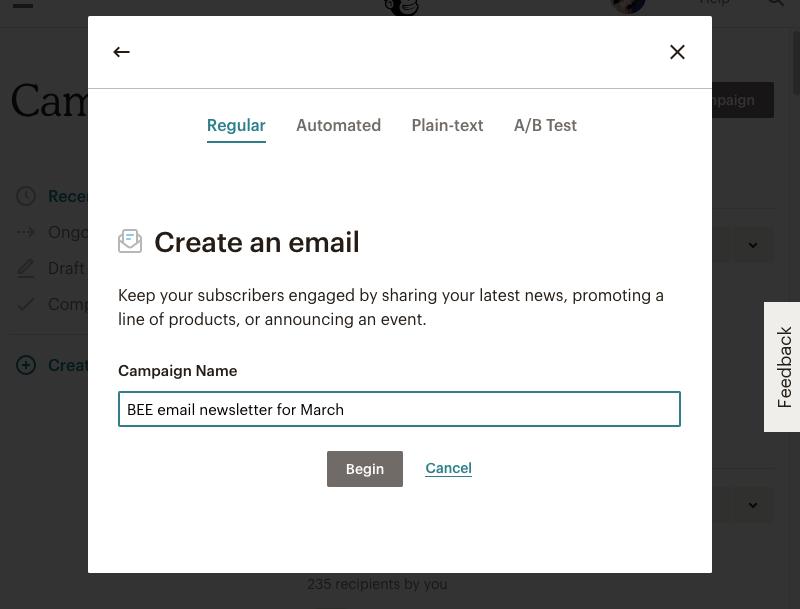 mailchimp design how to