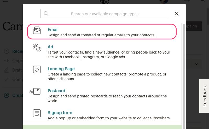 mailchimp newsletter design instructions