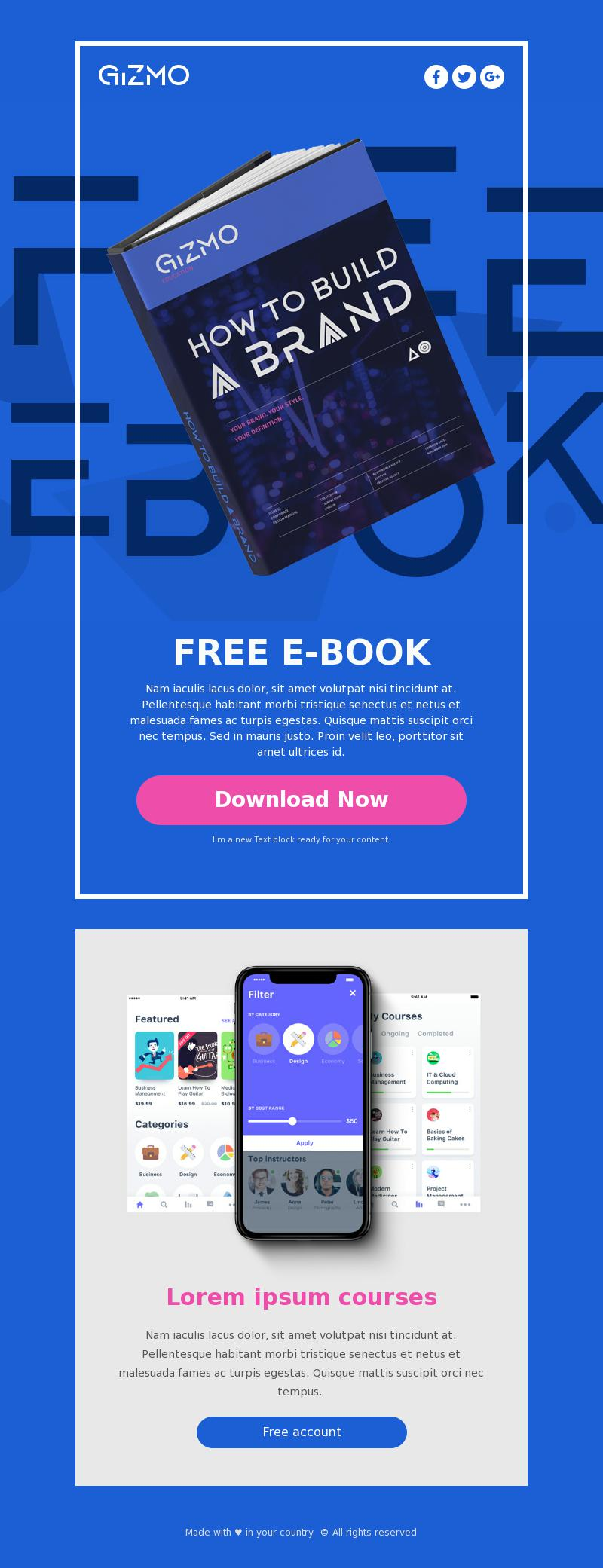 download freebie free email template