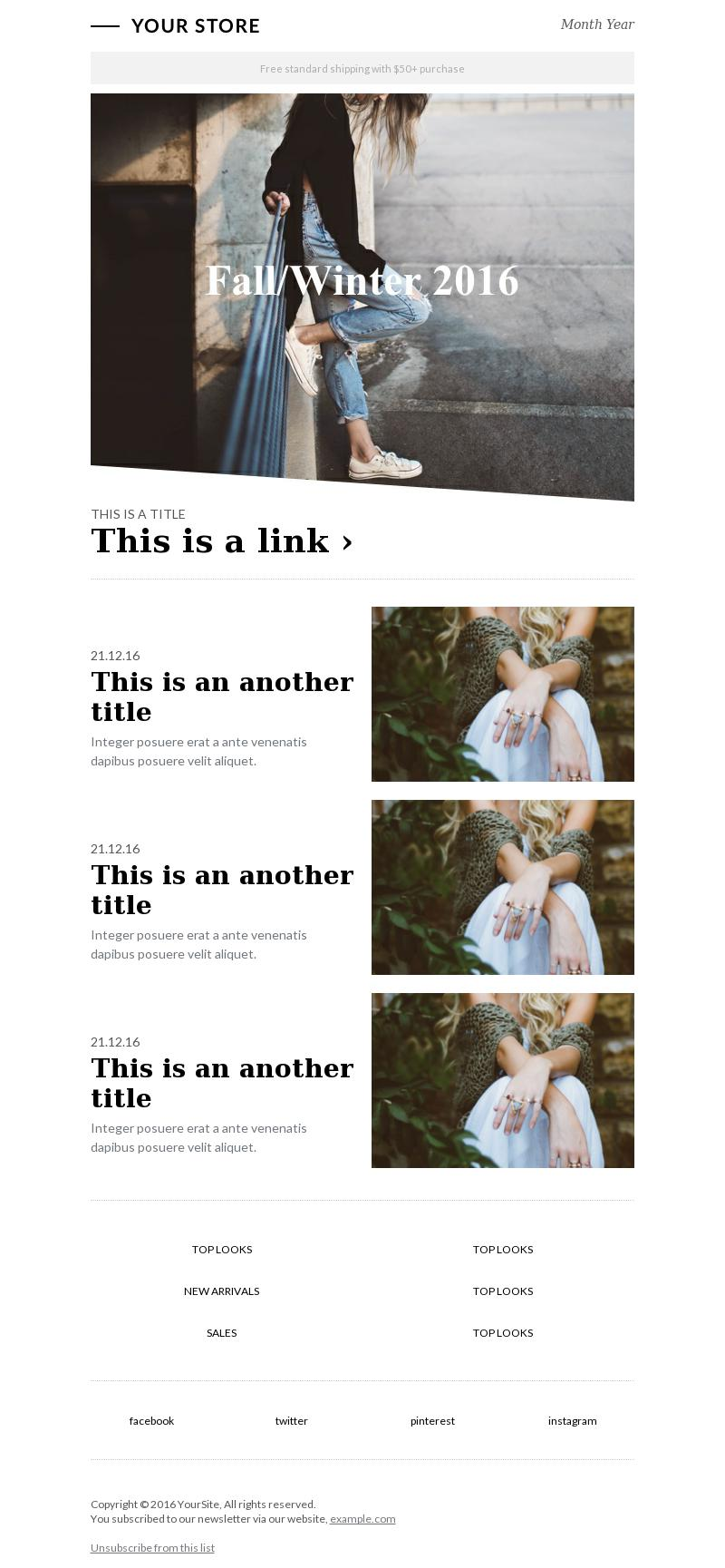 fashion zine bee free email marketing templates