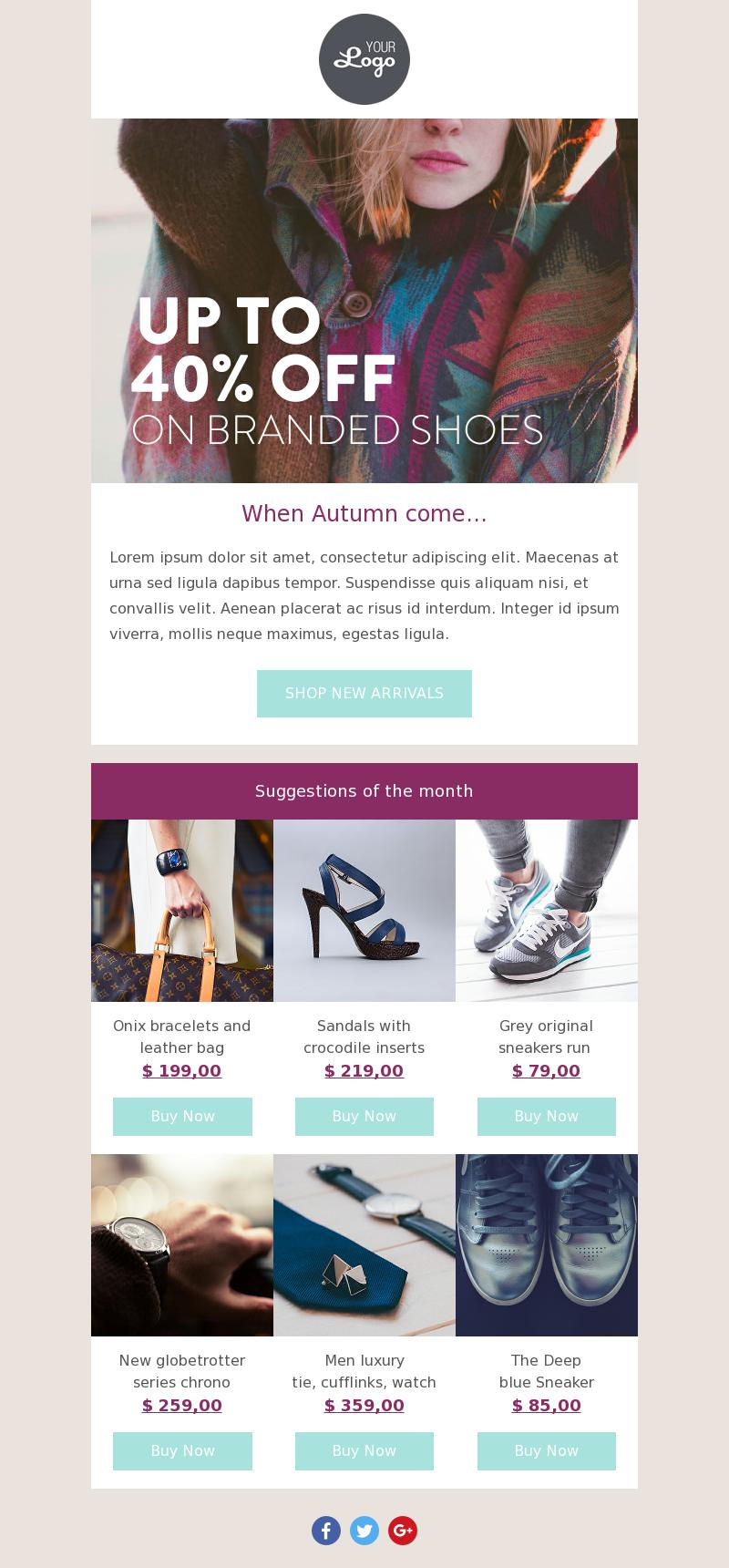 fashion discount responsive email template
