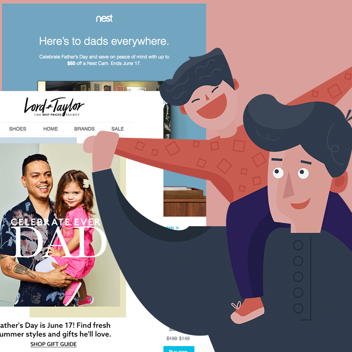 10 Modern Father's Day Email Designs