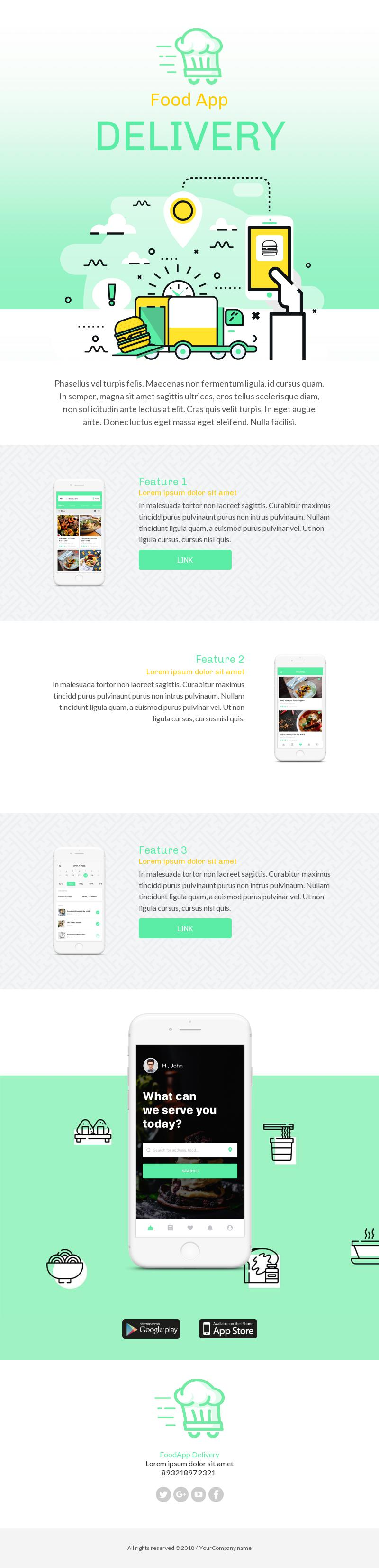 food delivery responsive email template