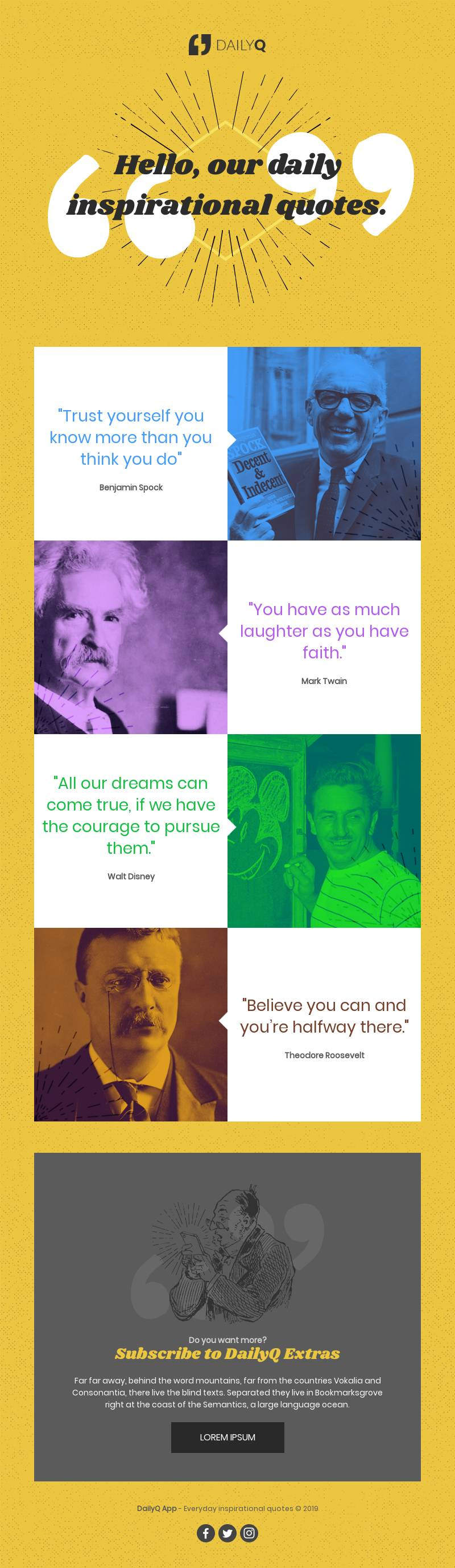 quotes newsletter responsive email template