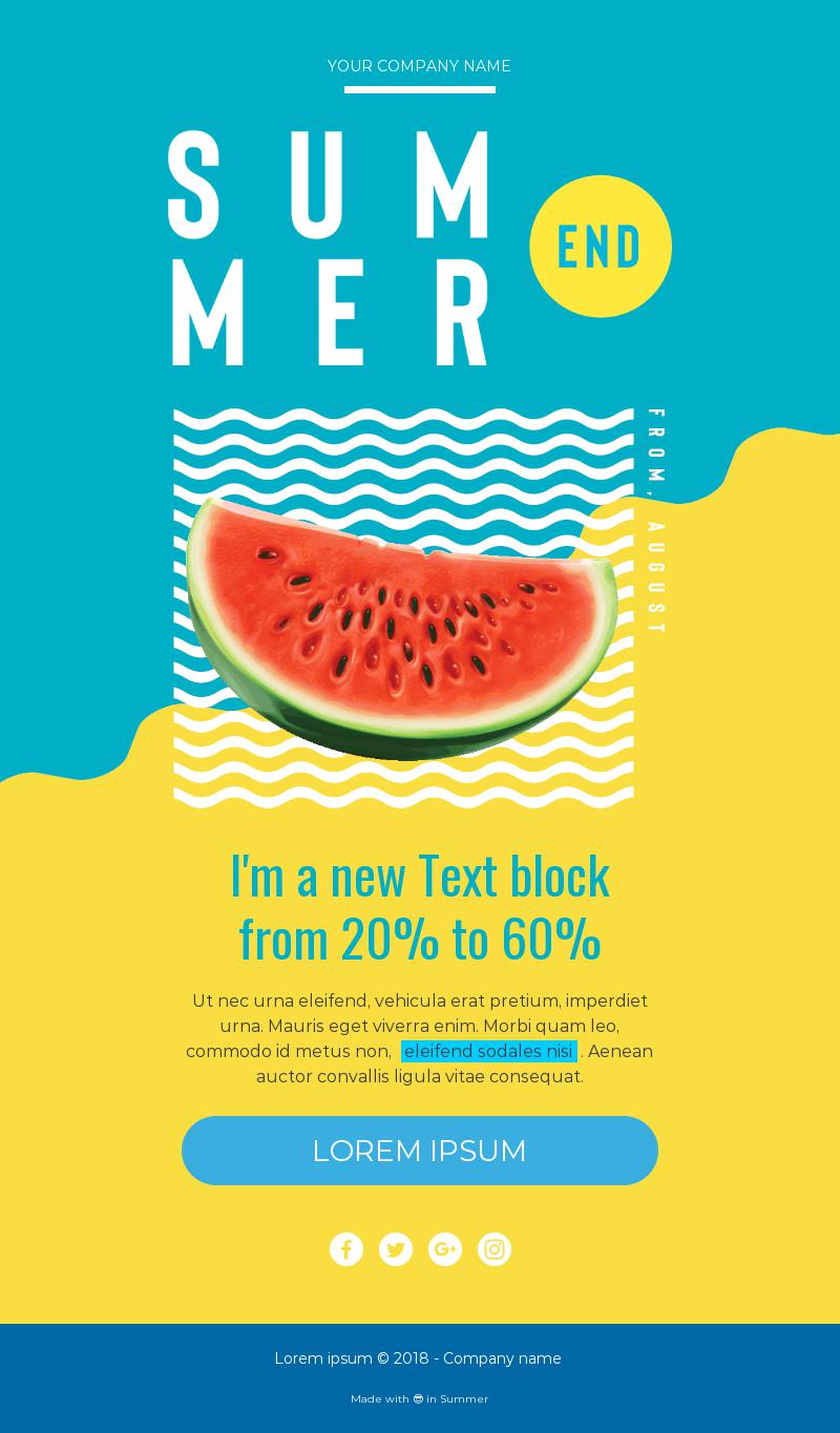 summer end responsive email template