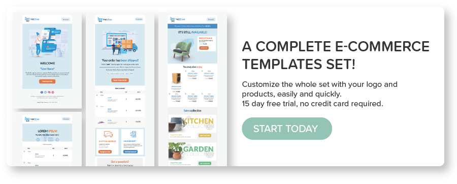 BEE e-commerce email templates