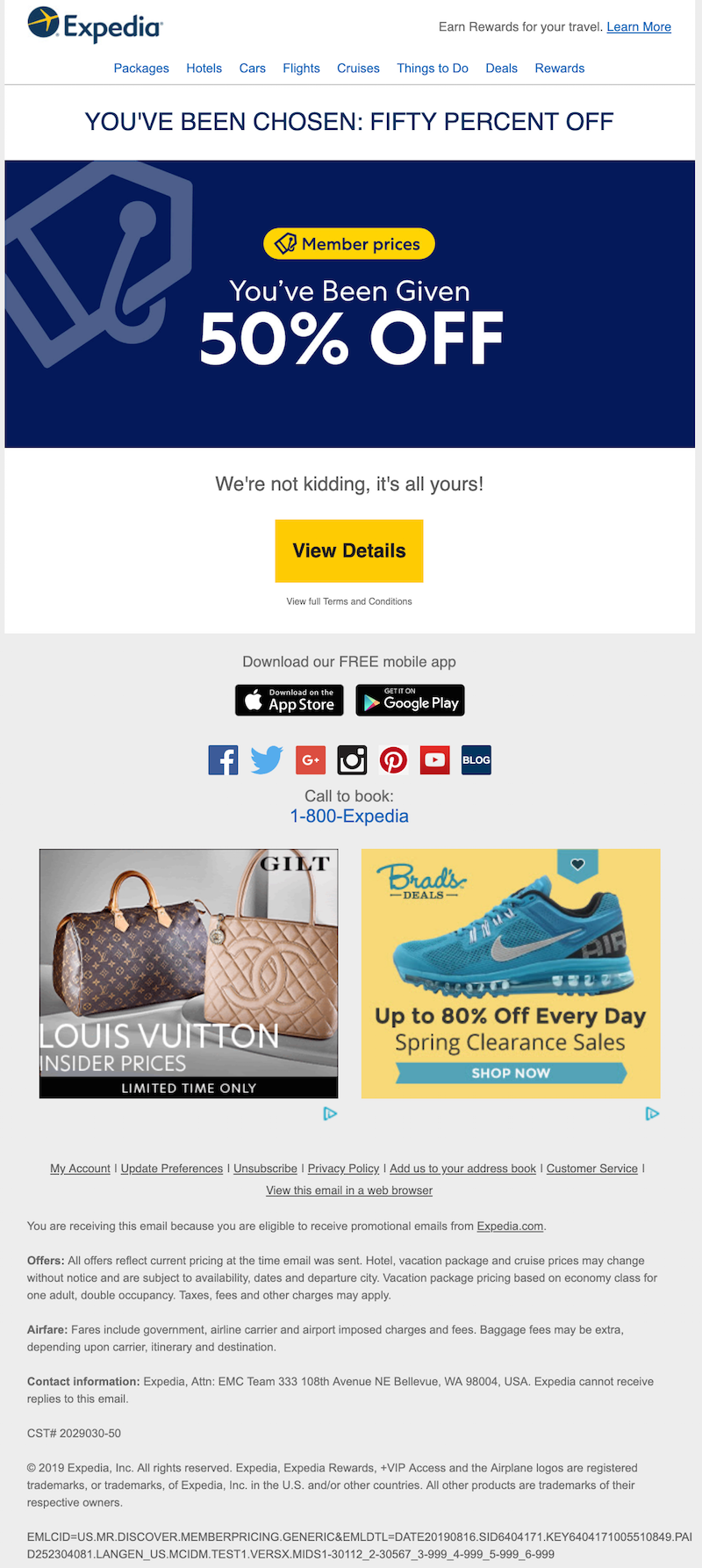 promo code email example