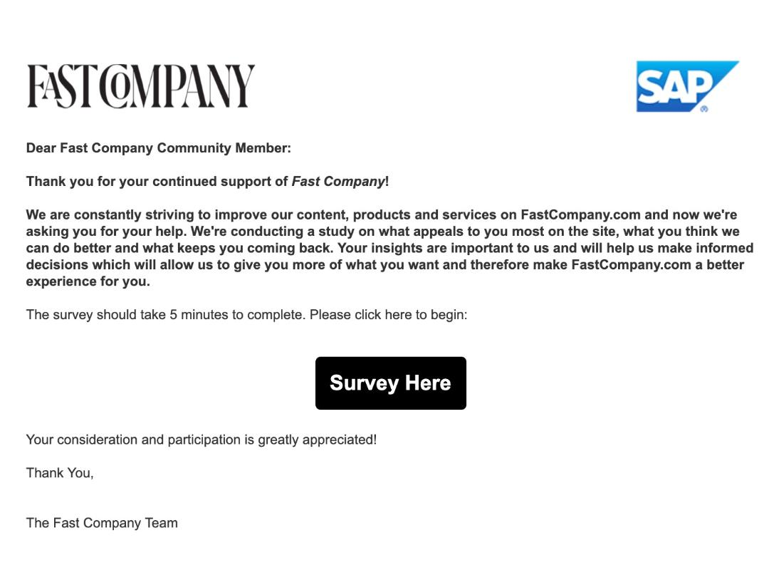 survey email example