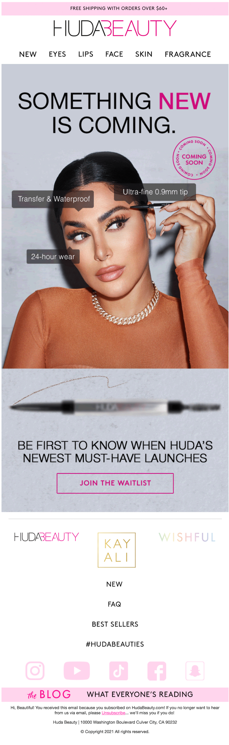 mysterious product launch email