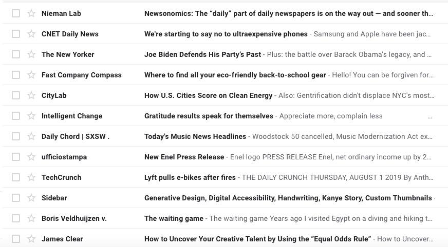 subject lines in email inbox