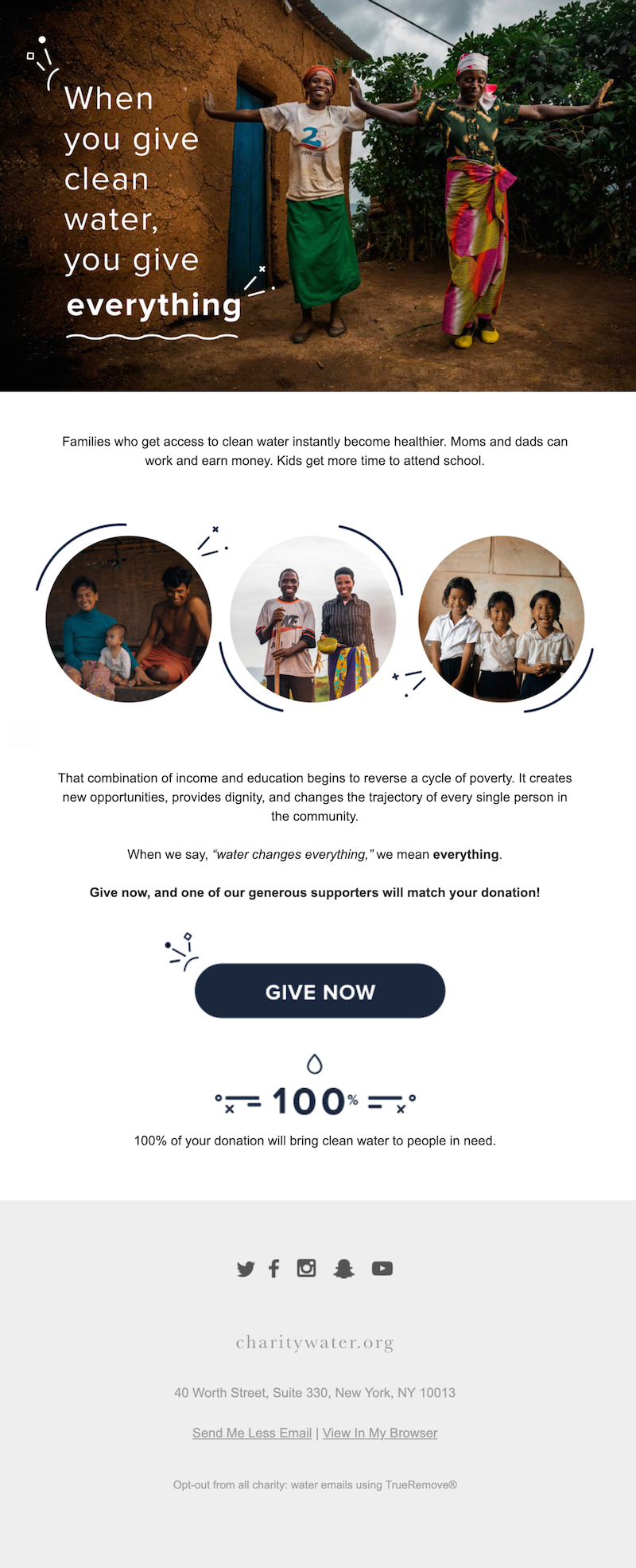 nonprofit email call to action