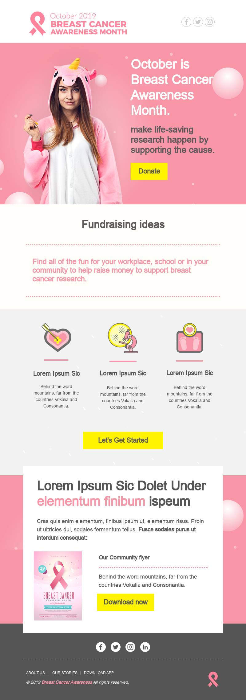 cancer fundraising email template