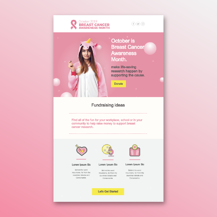 Spark Action With This Breast Cancer Fundraising Email Template