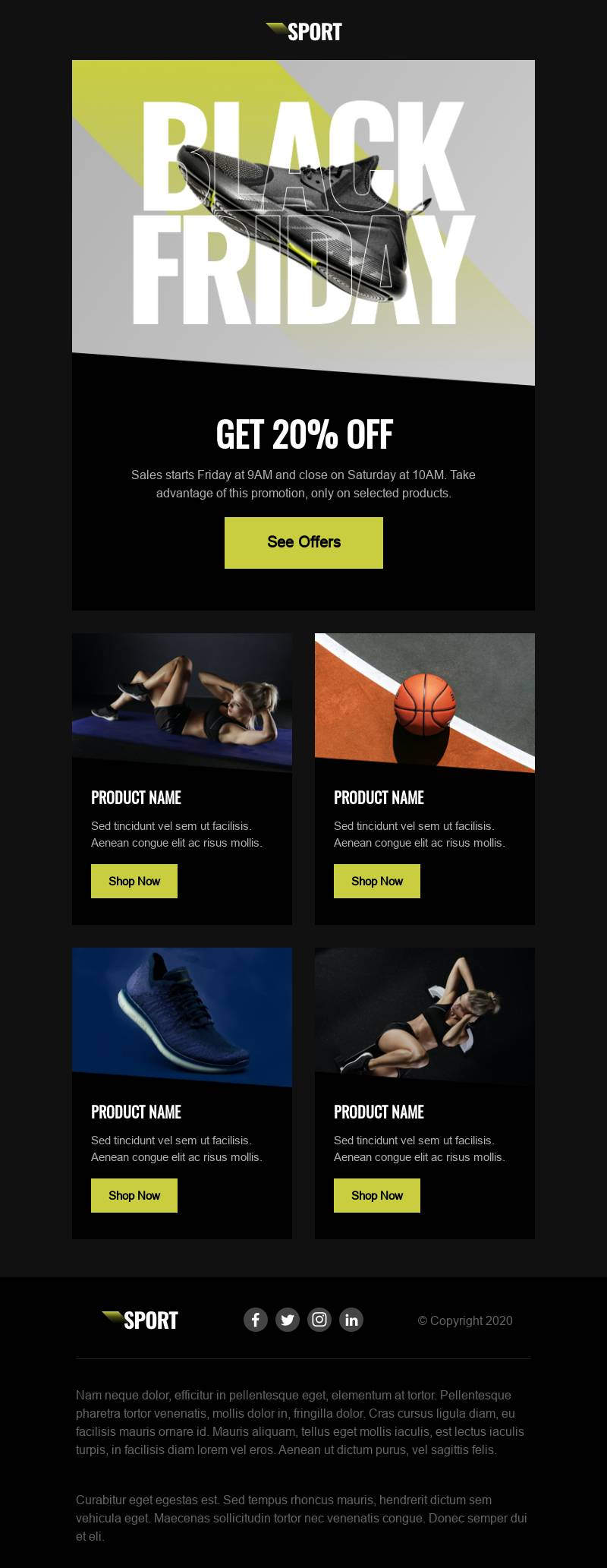 black friday email template