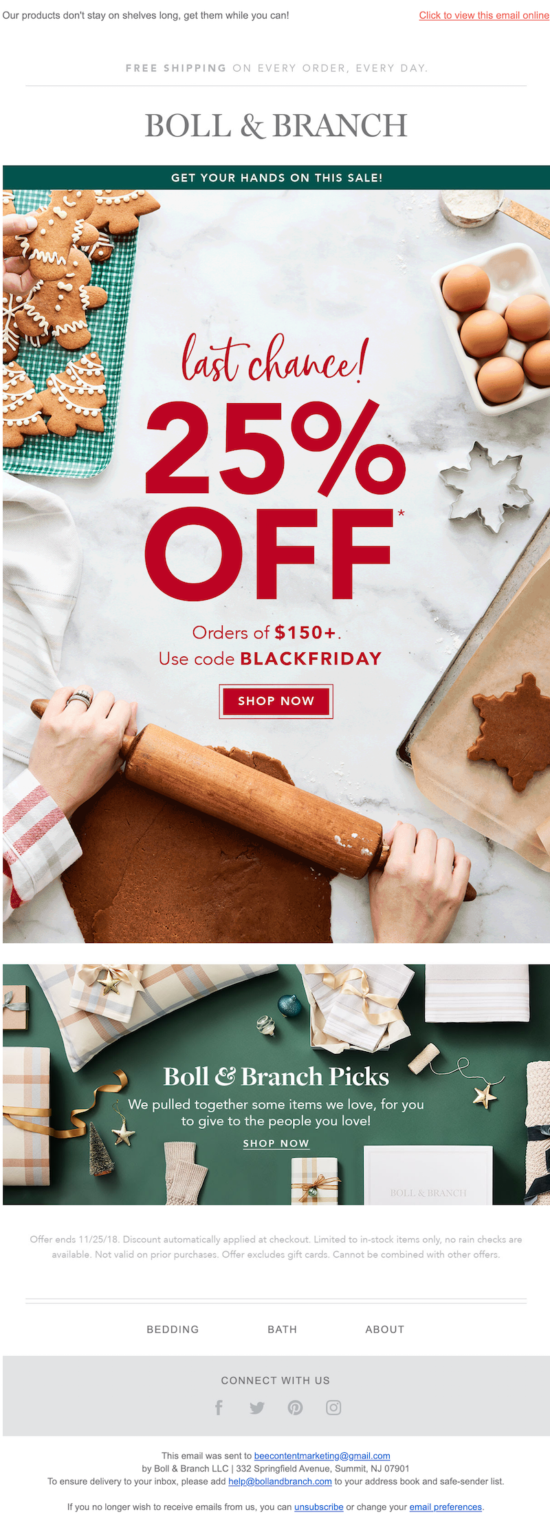 black friday email design