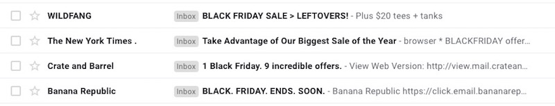 best black friday email subject lines