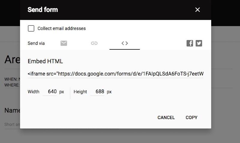 google form html