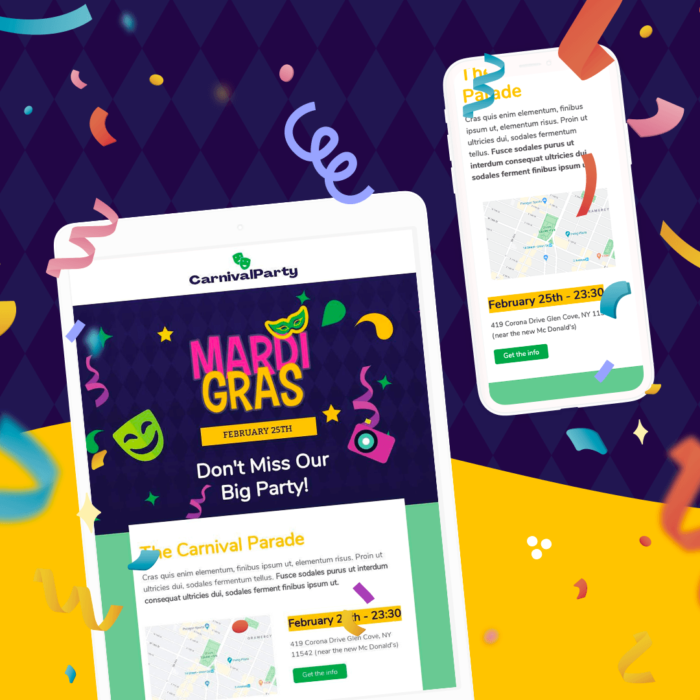 The Perfect Mardi Gras Email Invitation Template to Help You Celebrate Fat Tuesday