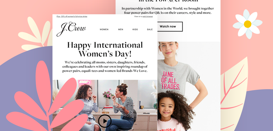 5 Inspiring International Women's Day Emails