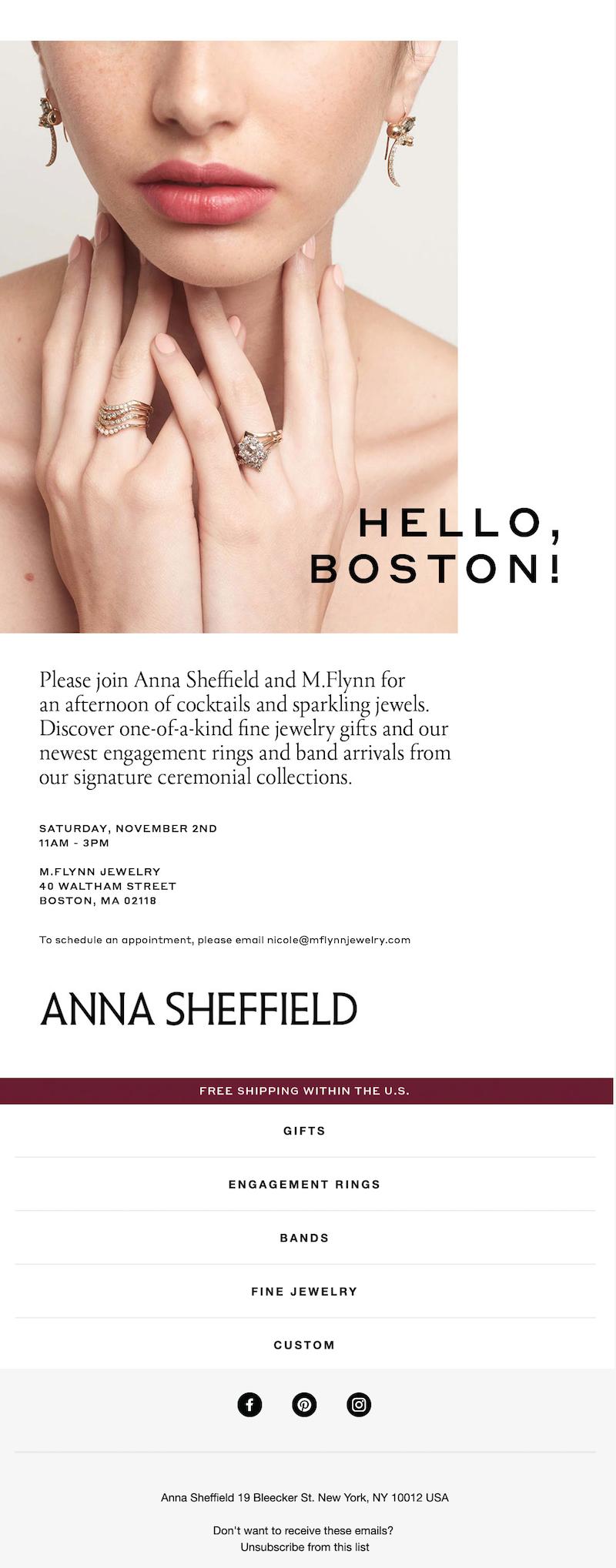 email invitation