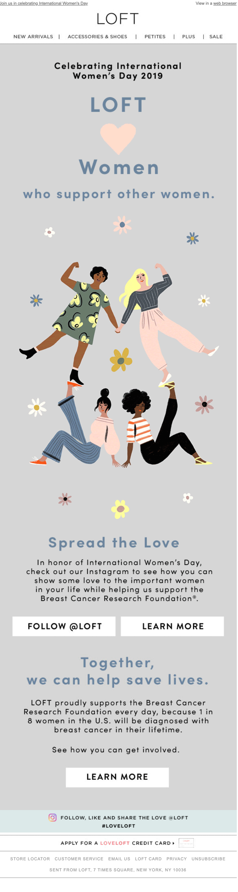 international women's day email design