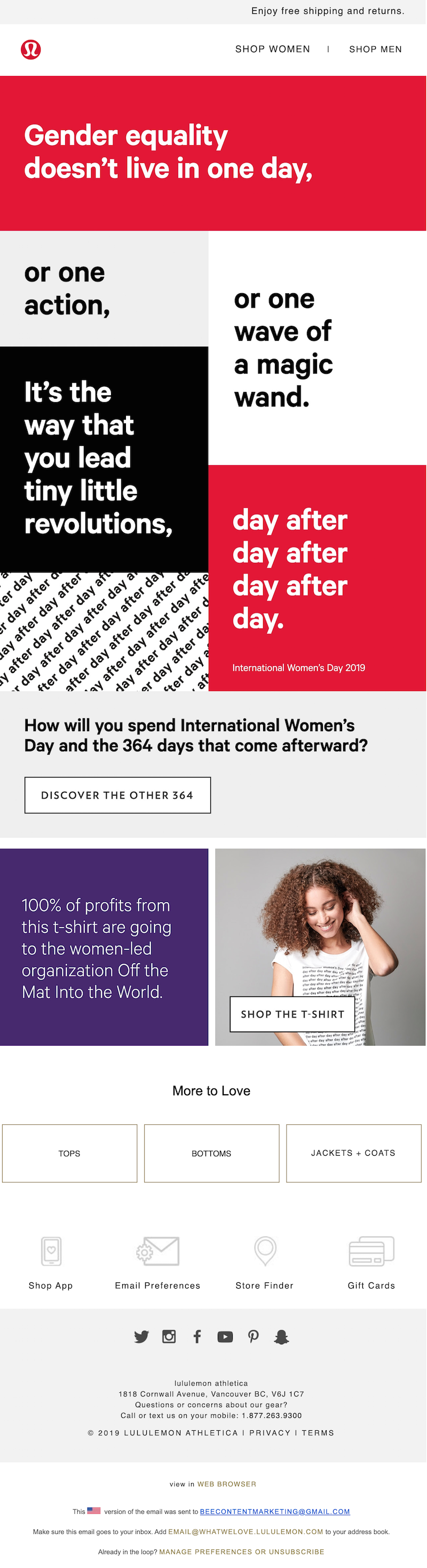 international women's day email template