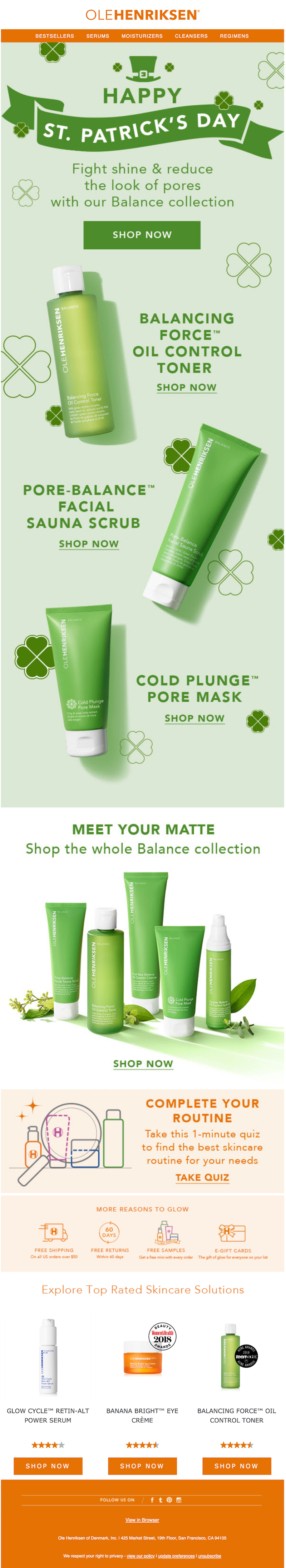 st patrick's day email design