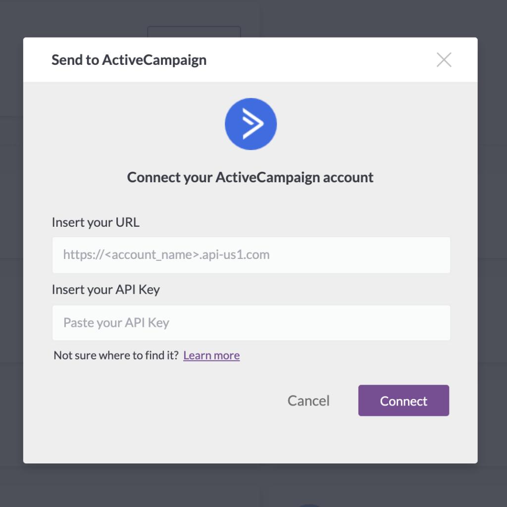 active campaign integration