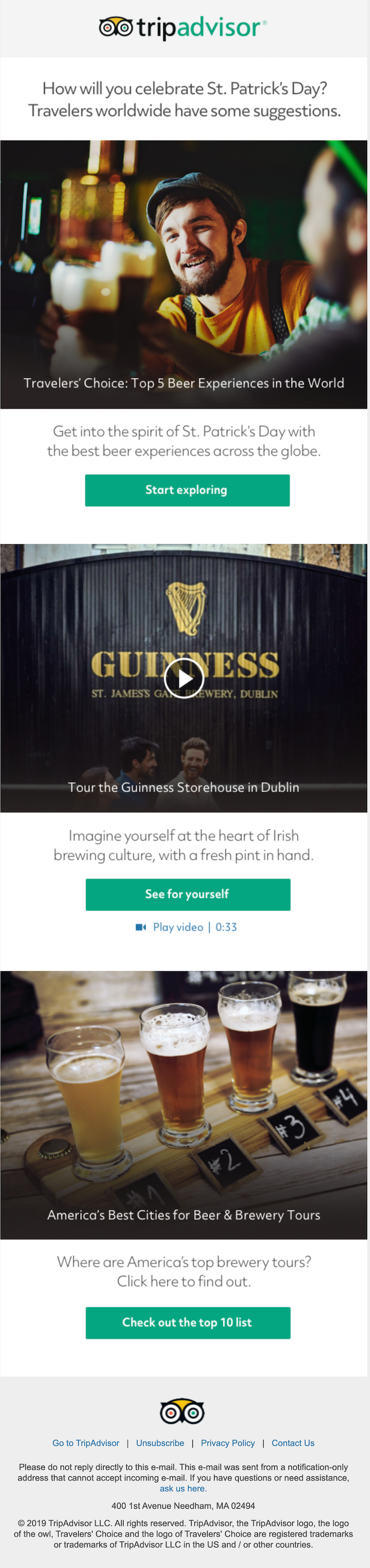 st patrick's email ideas