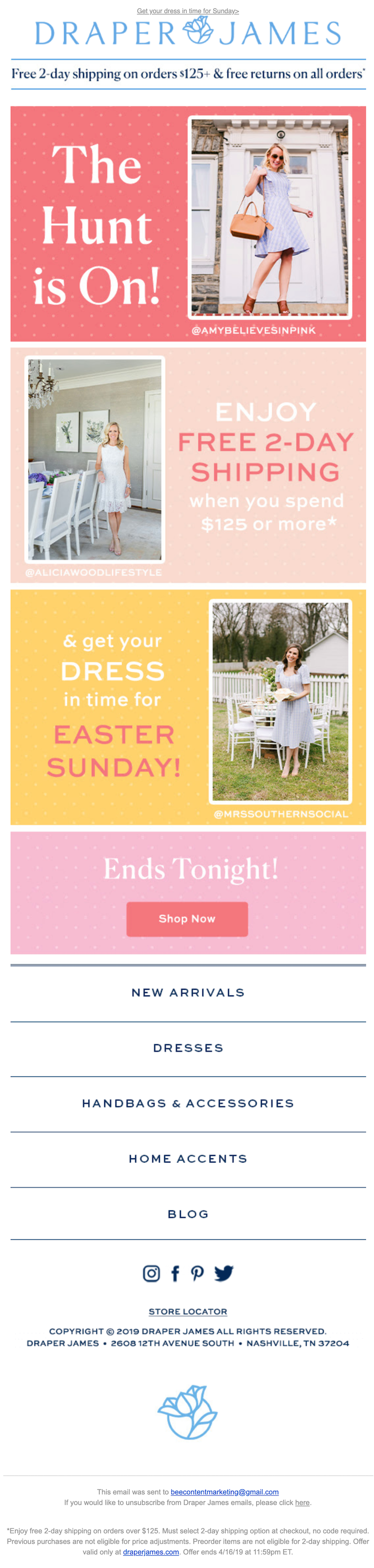 creative Easter email design
