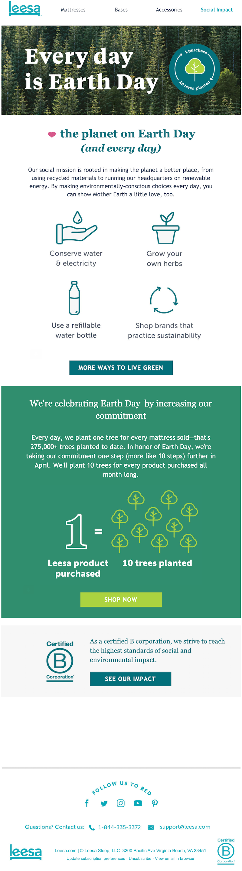 earth day email example